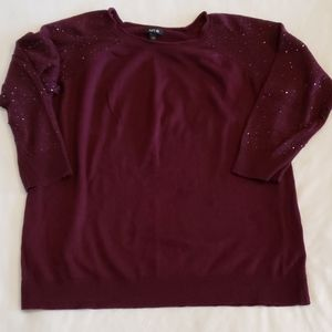 Maroon or wine color sweater